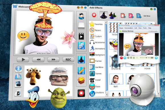 Webcam effects is a free webcam software with free effects for webcam
